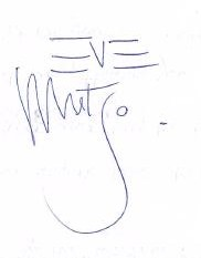 Eve Musto Autograph