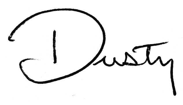 Dusty Button Autograph