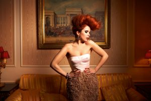 the singer Paloma Faith poses for the camera