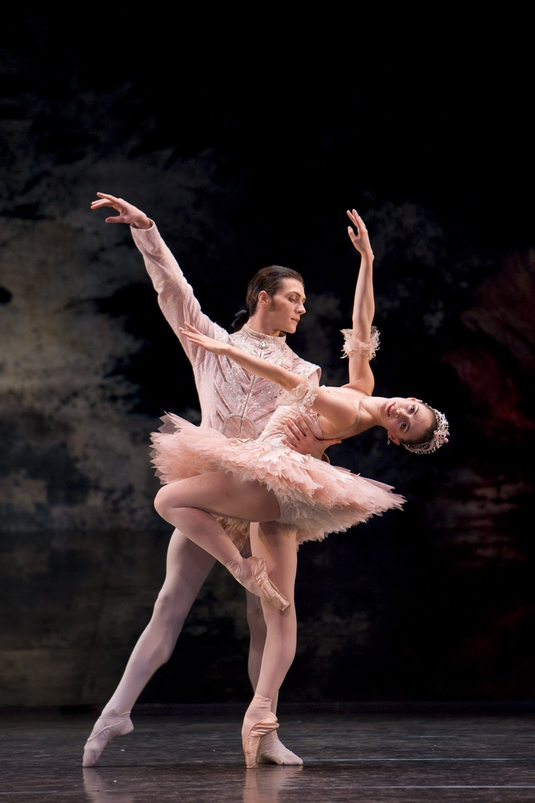 two dancers in pink tutus