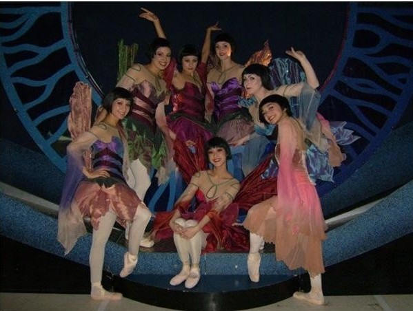 The NBT girls as fairies in David Nixon's A Midsummer Night's Dream