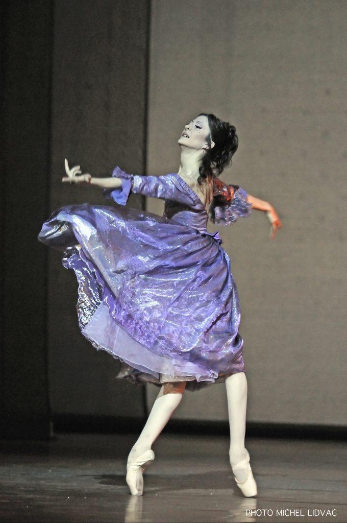 a ballet dancer on stage
