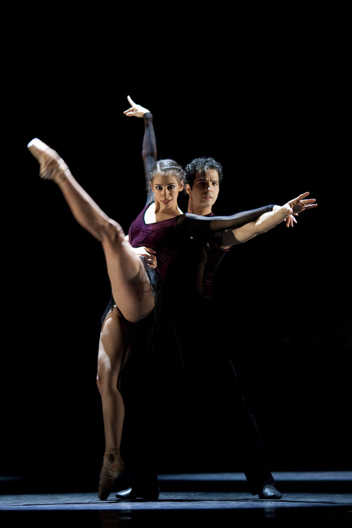 two dancers in a pas de deux