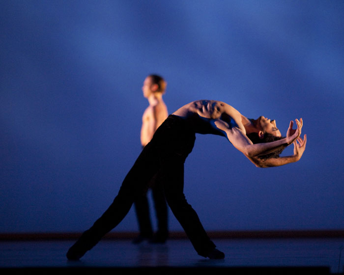 dancer in backbend on stage