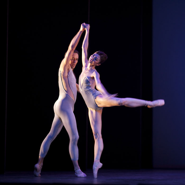 two dancers in arabesque