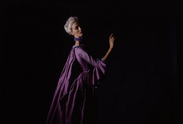 dancer in purple dress