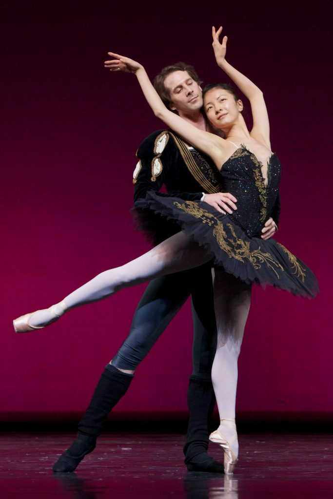 dancer in Black Swan tutu