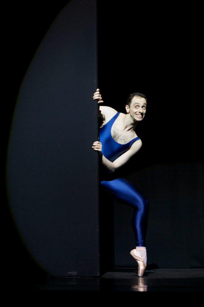male dancer on pointe