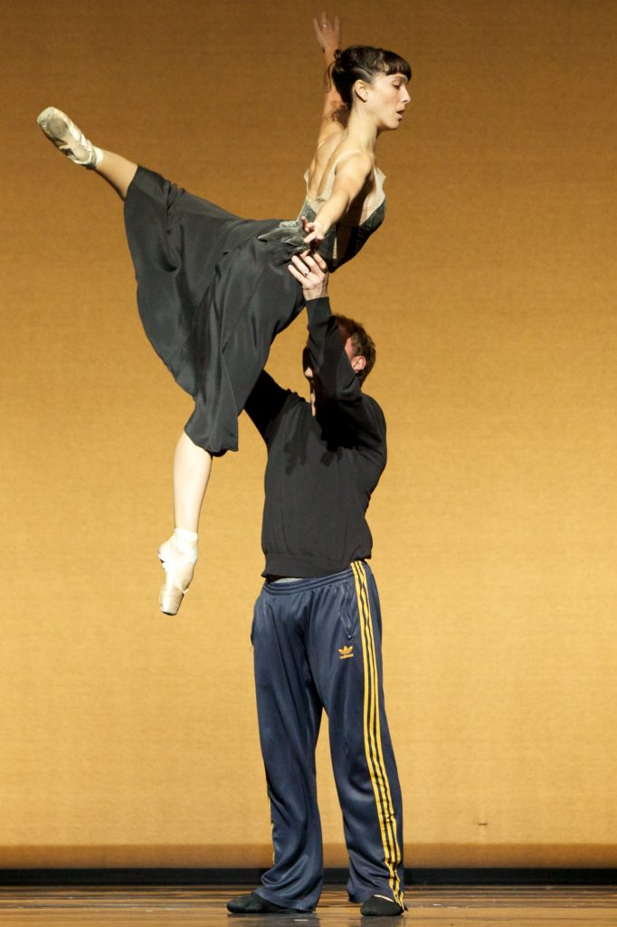 ballet dancer held aloft