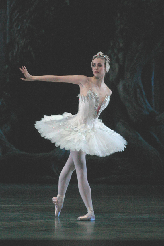 dancer in Swan lake tutu