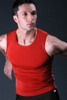 red ballet top for men