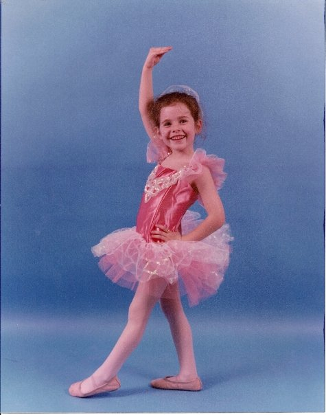 very young dancer in pink tutu