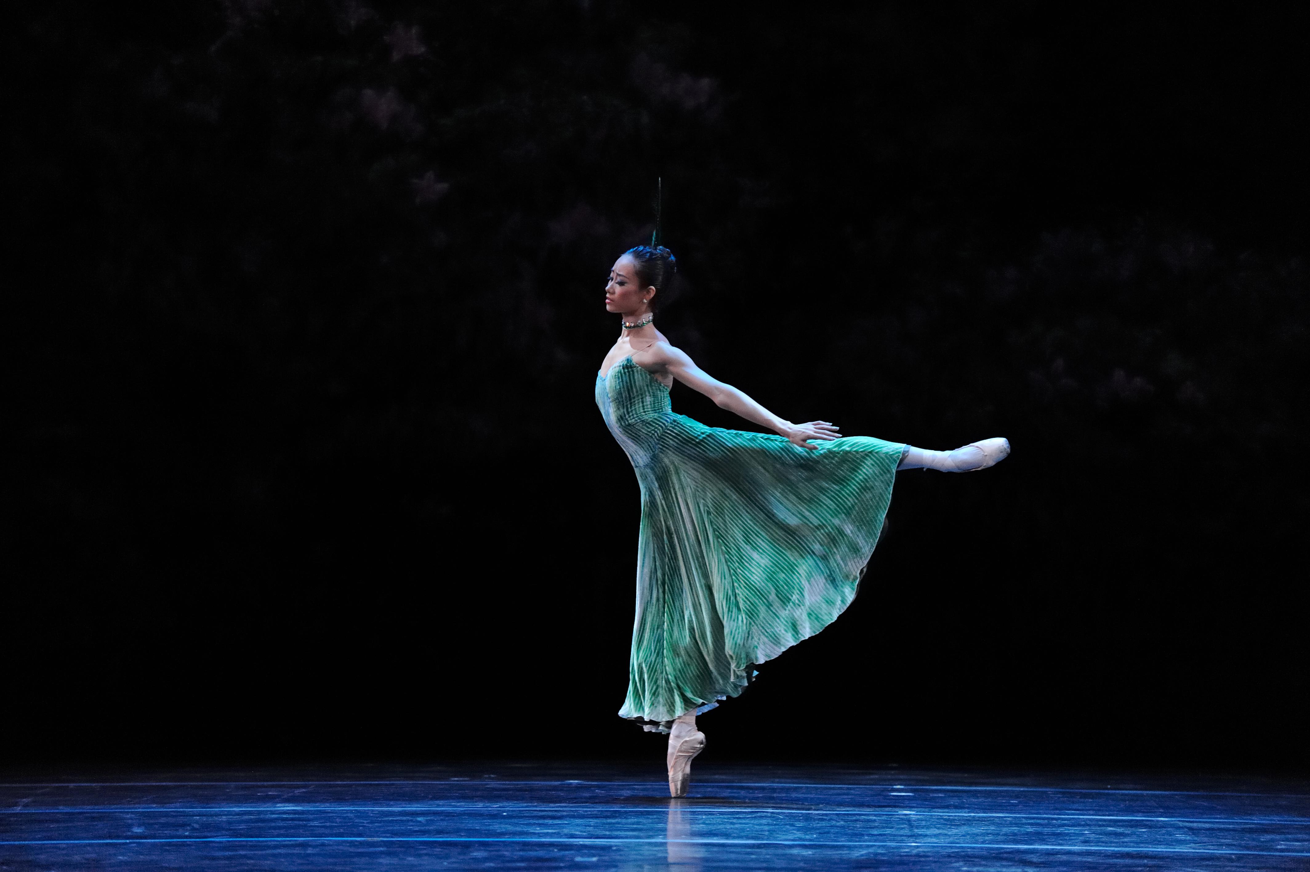 ballet dancer in arabesque
