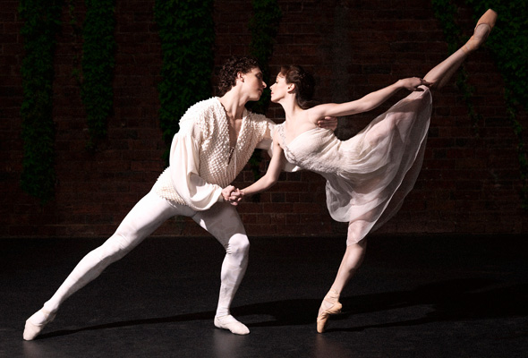 Kevin Jackson and Madeleine Eastoe in Akira Isogawa's Romeo & Juliet costumes. Photography Georges Antoni