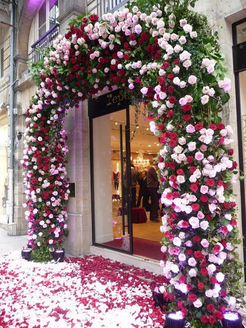 Repetto petal window display