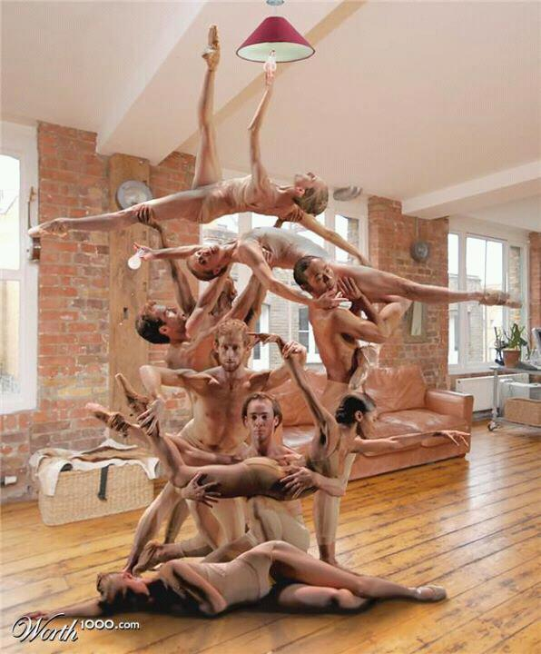 ballet dancers as sculpture