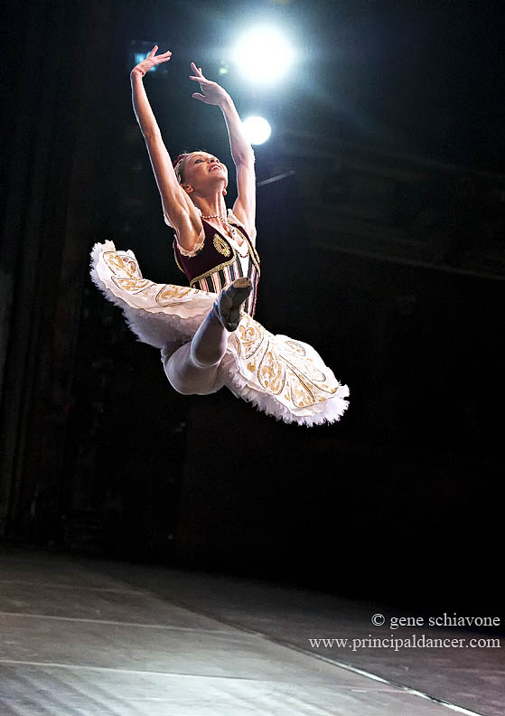 ballet dancer in jete