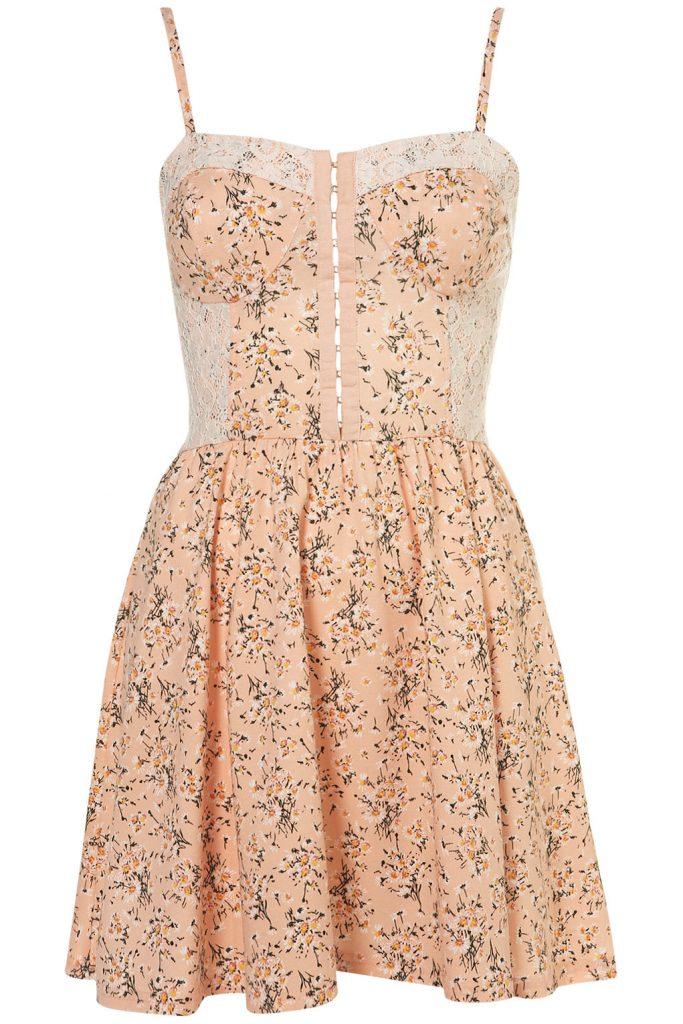 peach ballet dress