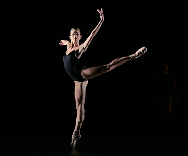 ballet dancer on pointe