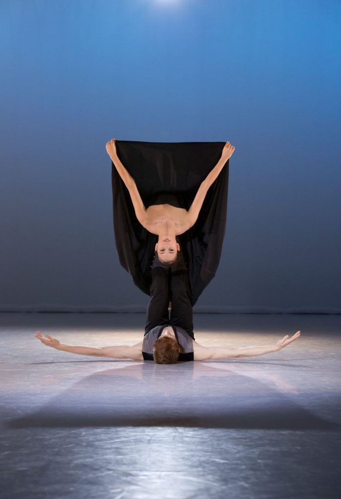 ballet dancer in a backbend on stage