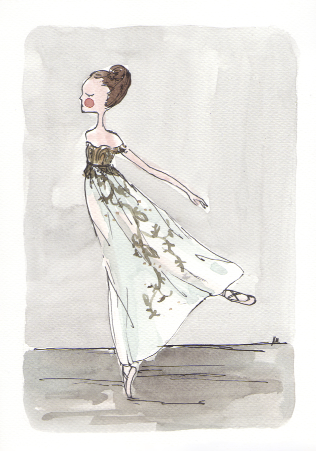 Ballet News World Exclusive illustration by Noemi Manalang