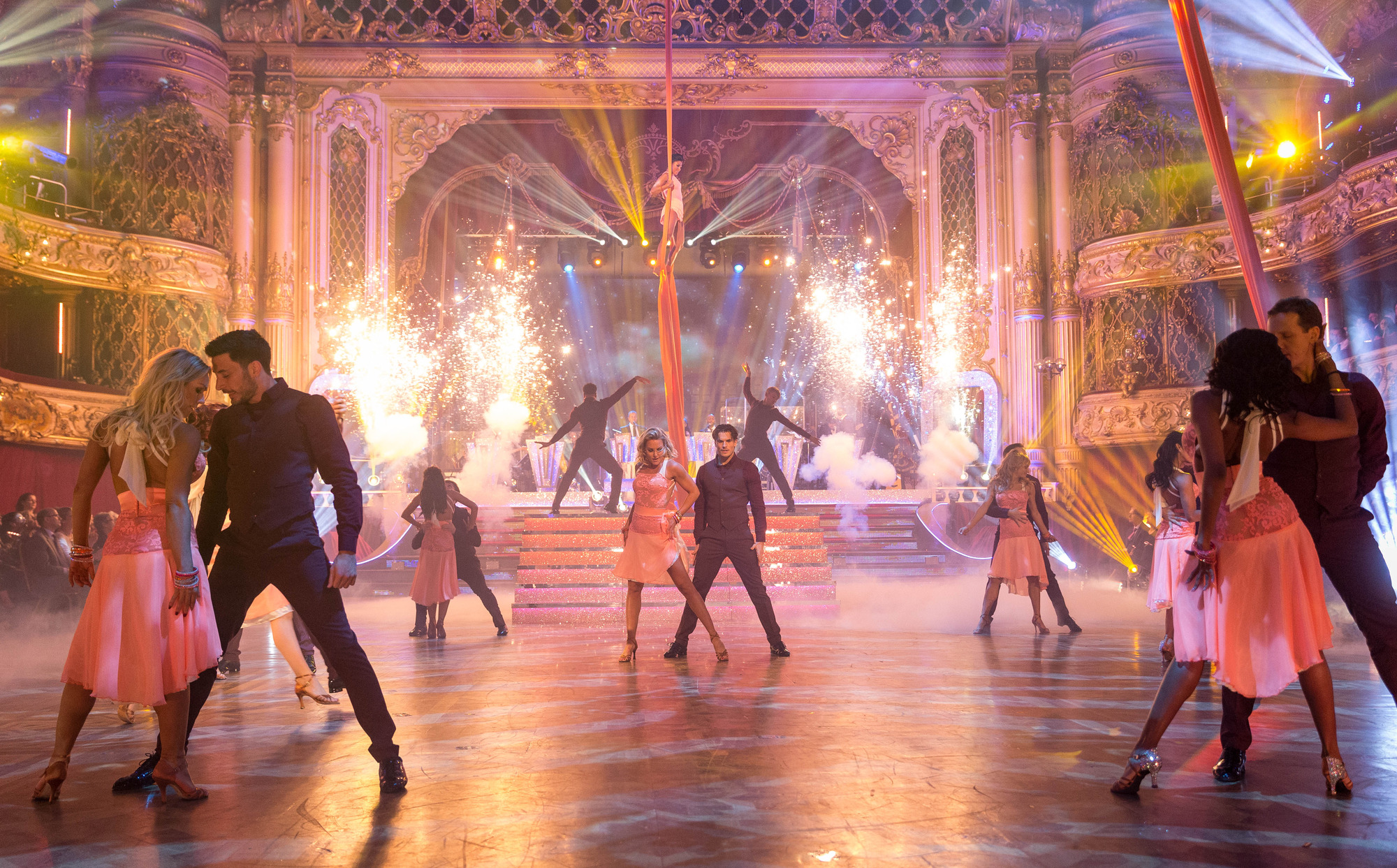 The Strictly Come Dancing contestants and professional dancers