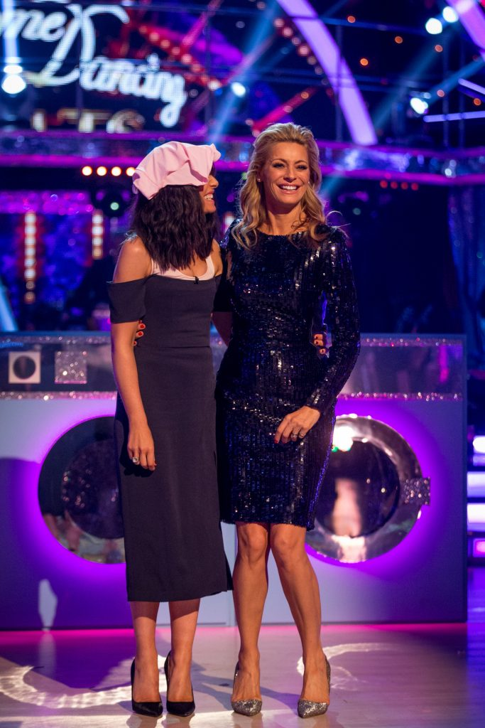Claudia Winkleman & Tess Daly ham it up for Strictly