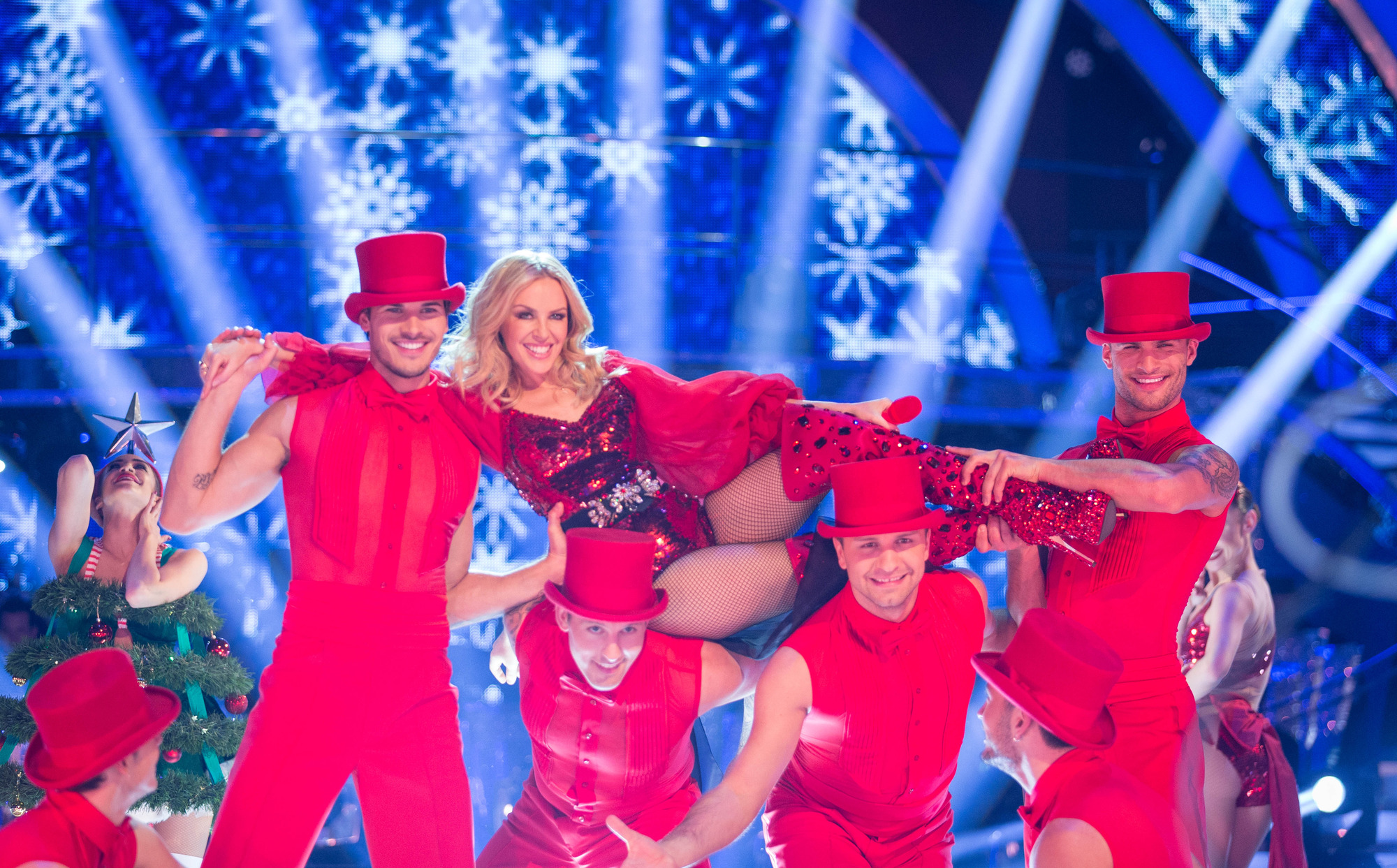 Kylie Minogue dances on Strictly Come Dancing