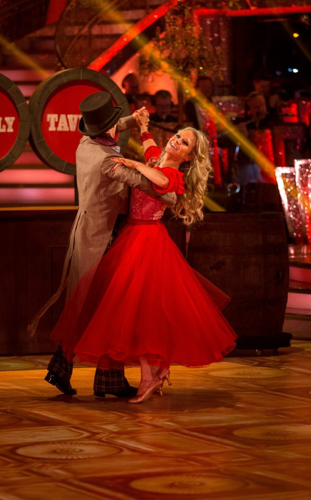 Kevin Clifton dances with his celeb partner Kellie on SCD