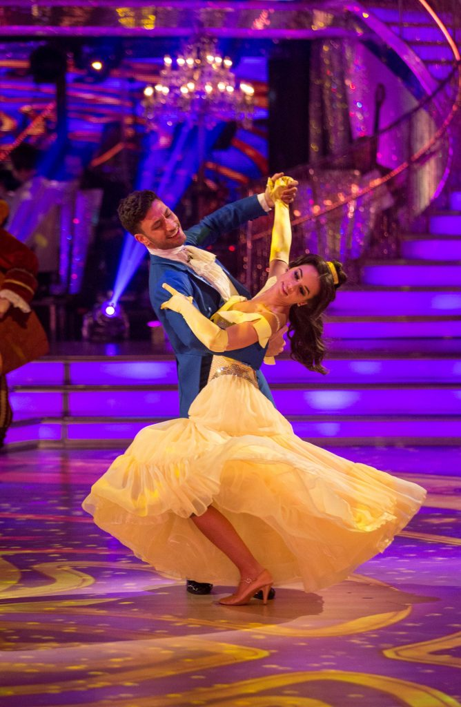 Giovanni Pernice dances the Beast from Beauty and the Beast on Musicals week for Strictly Come Dancing