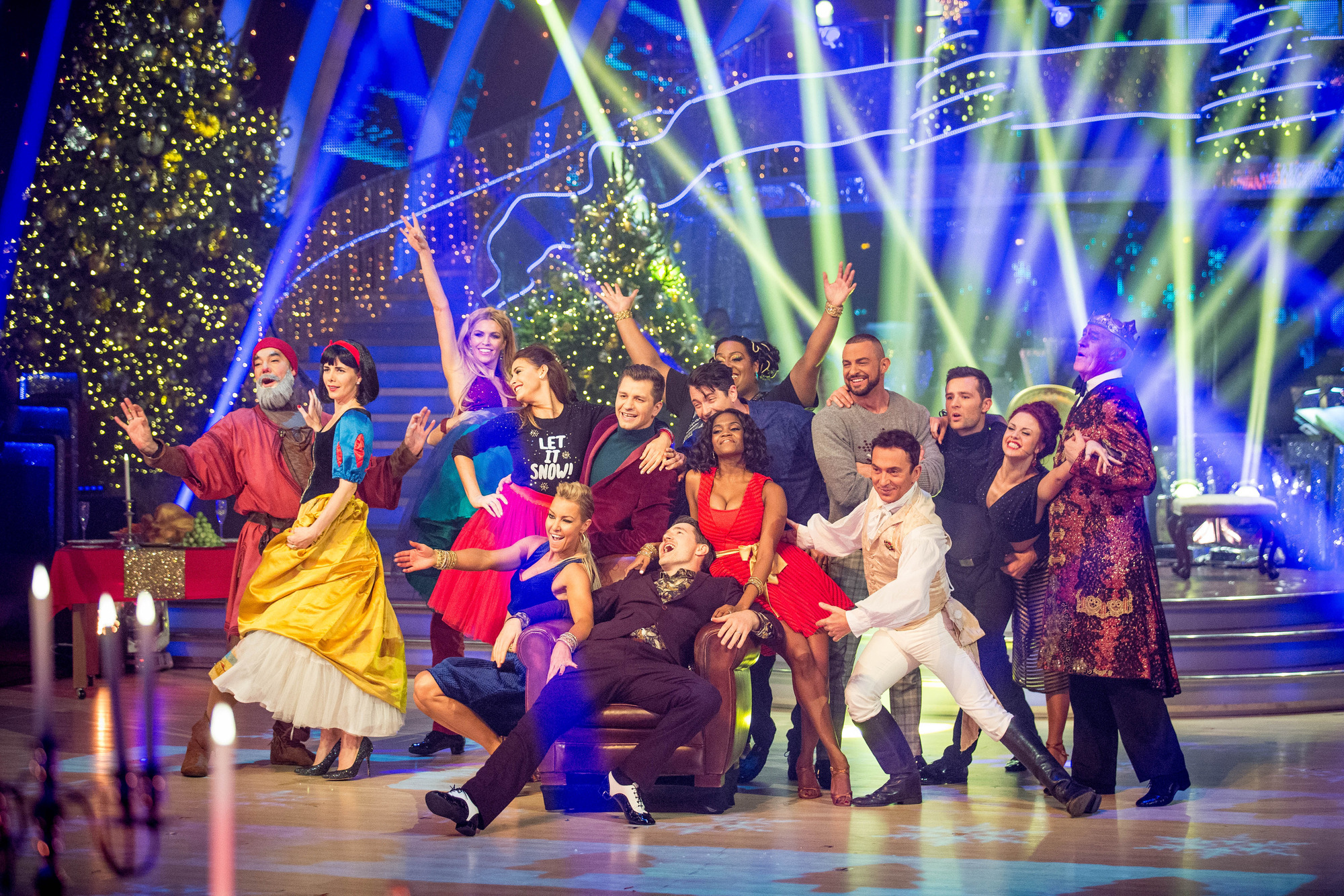 The cast of Strictly Come Dancing Christmas Special 2015