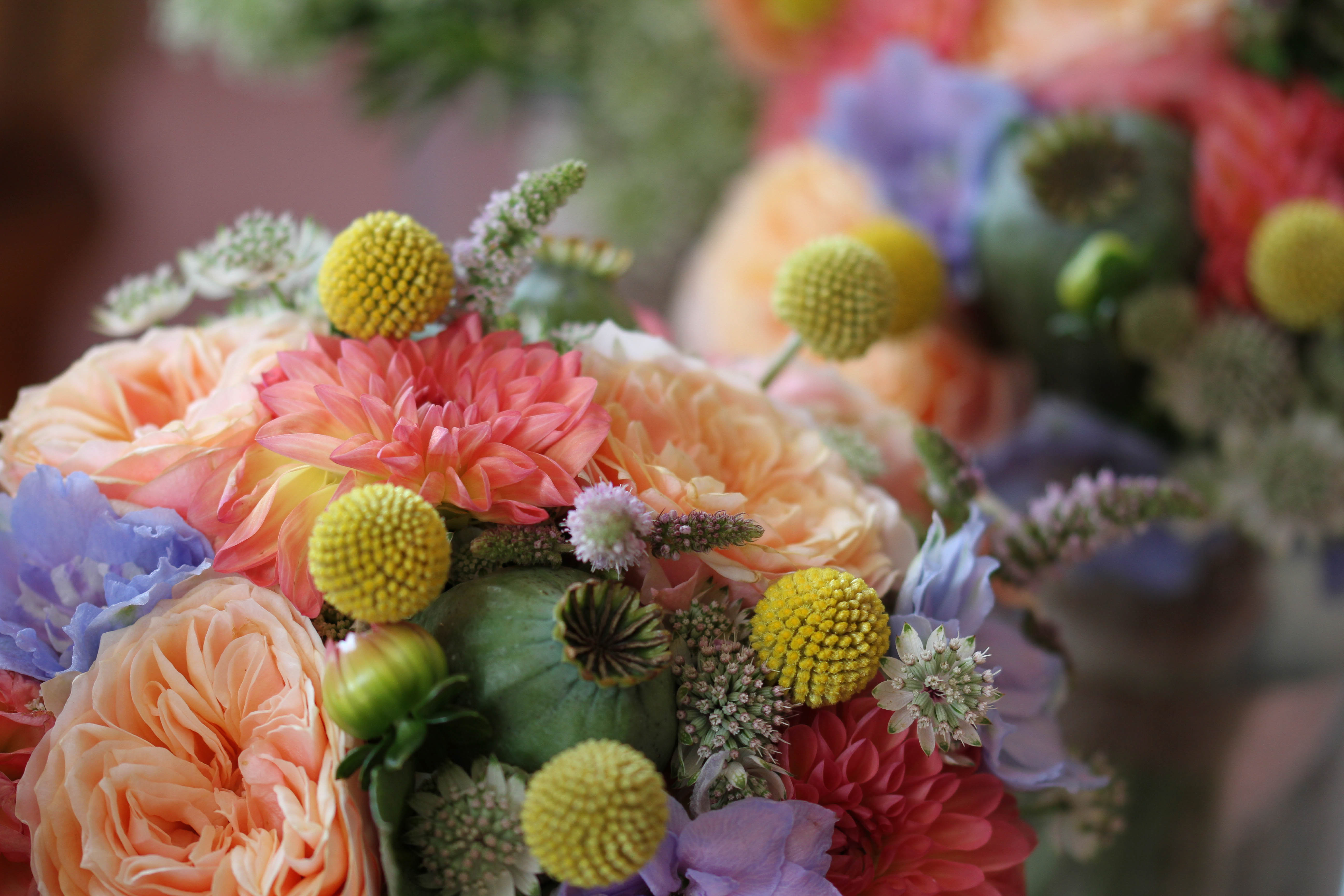 wedding flowers in lots of colours