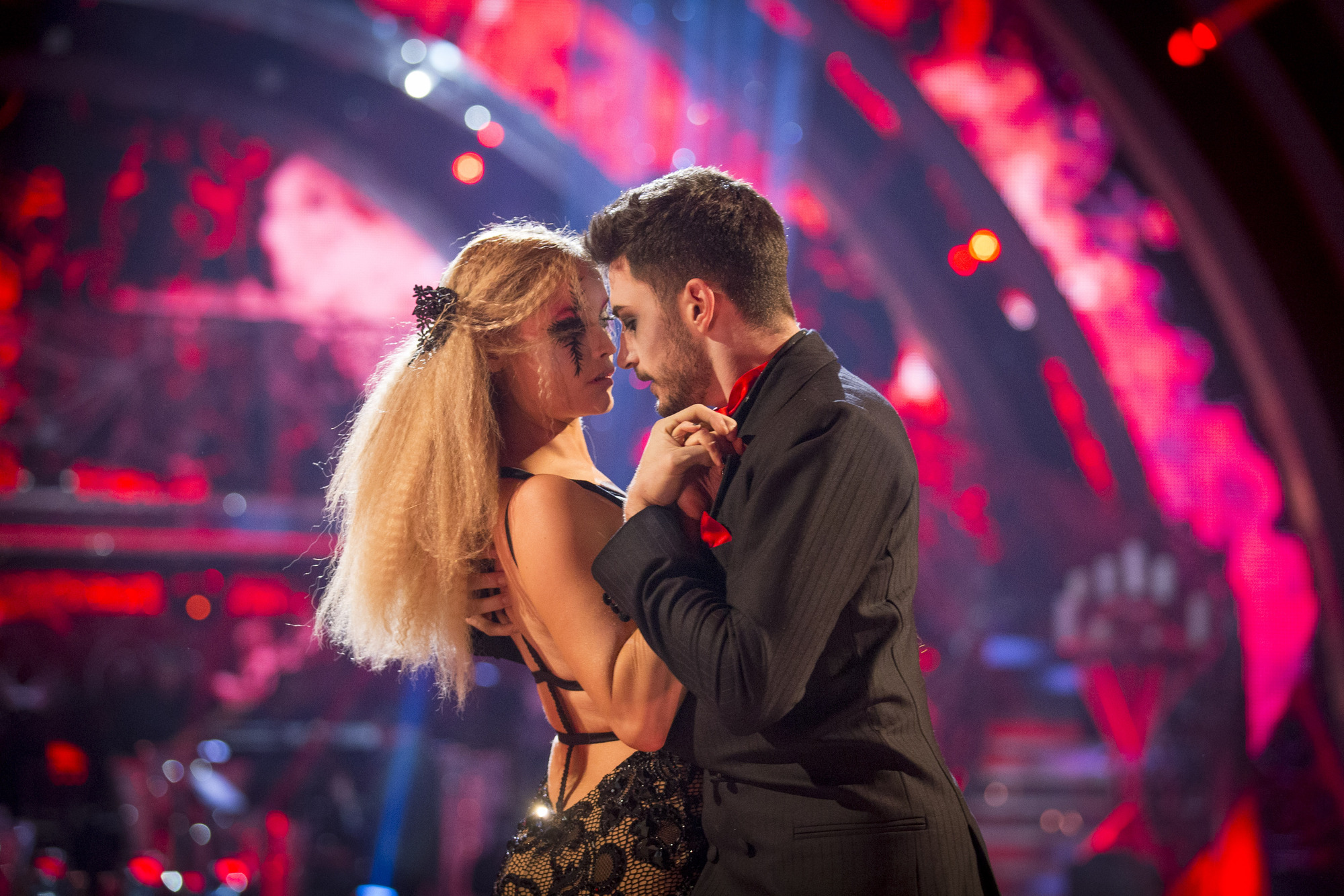 Laura Whitmore, Giovanni Pernice - (C) BBC - Photographer: Guy Levy