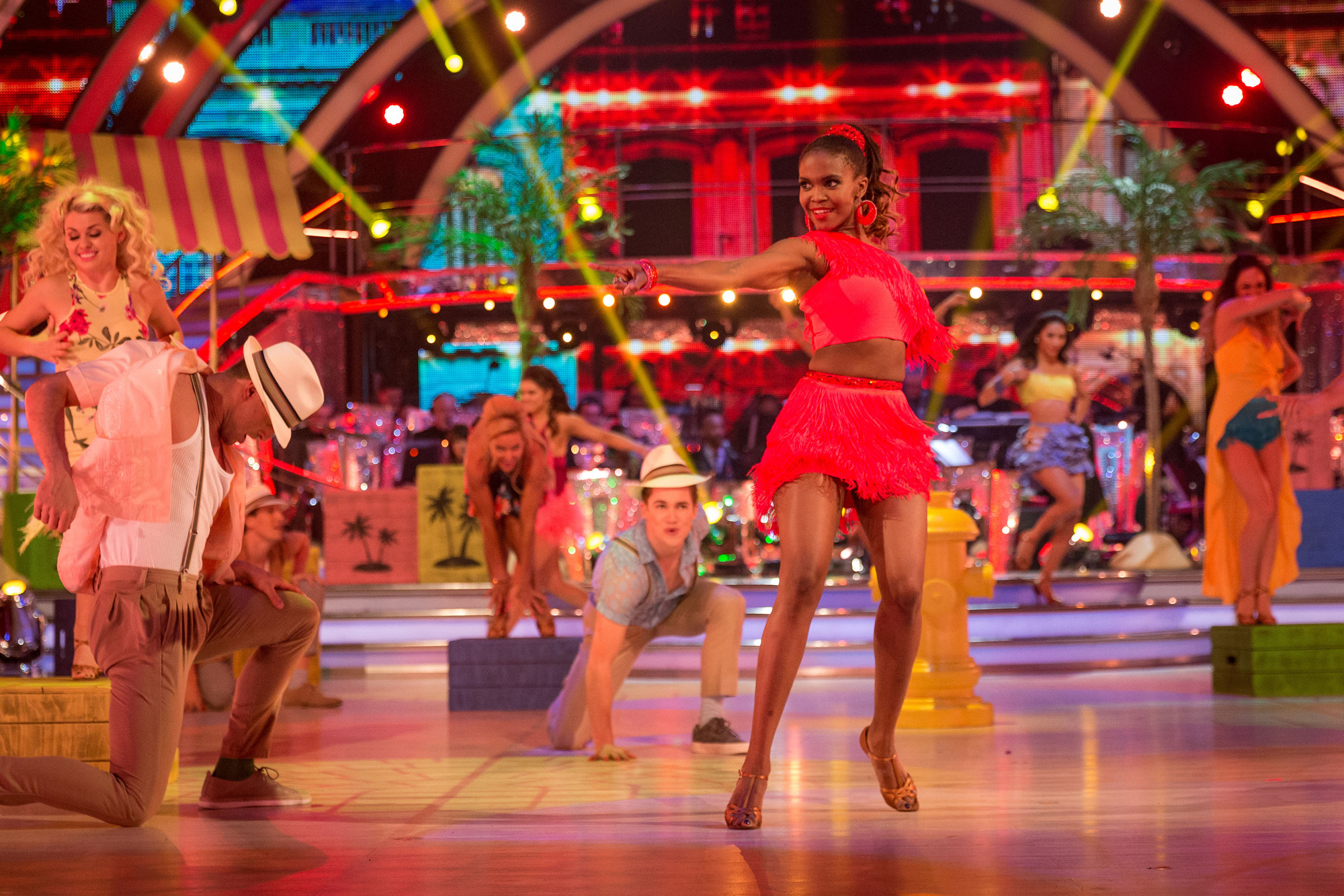 Oti Mabuse, The Strictly Come Dancing dancers - (C) BBC - Photographer: Guy Levy