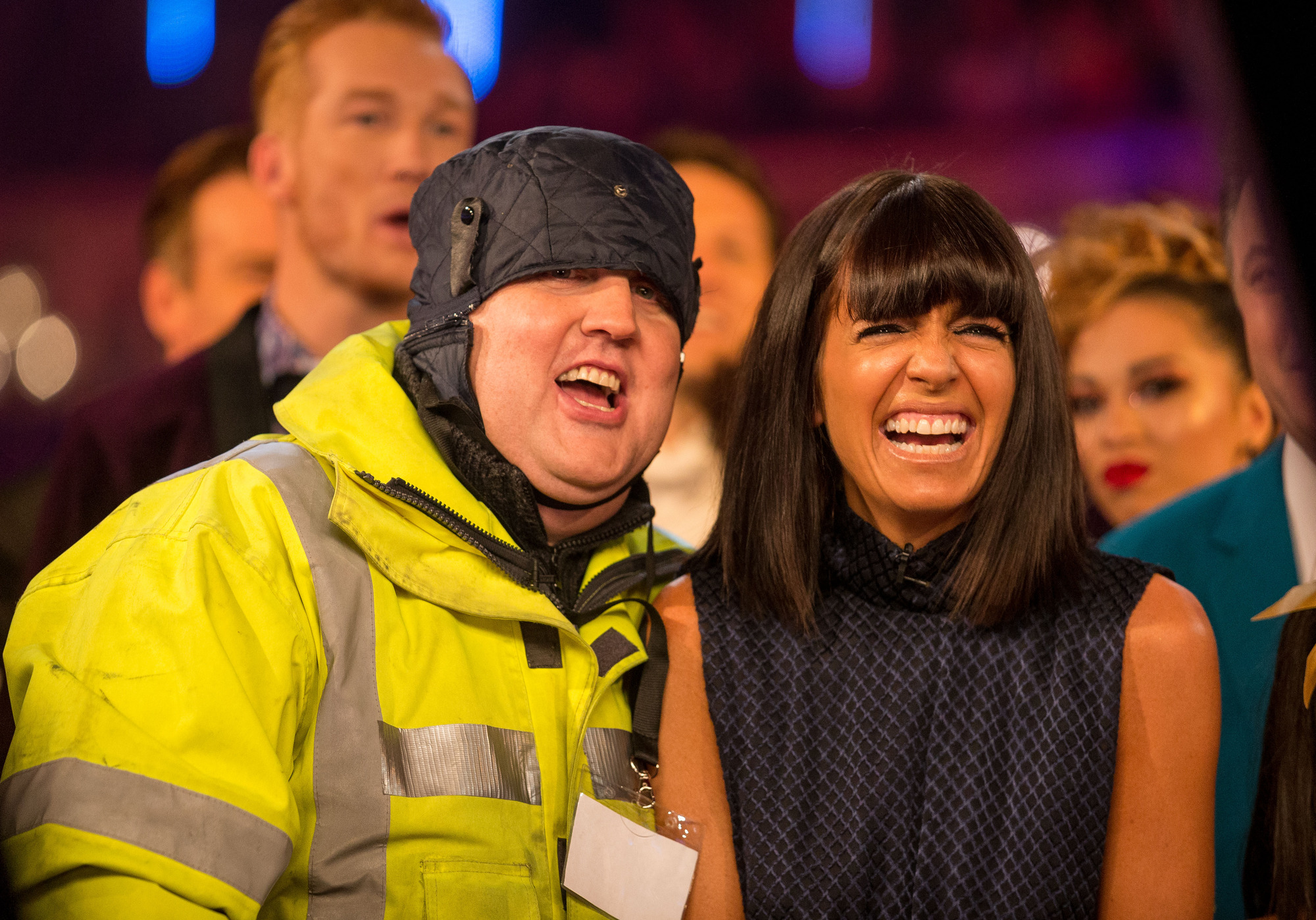 Peter Kay, Claudia Winkleman - (C) BBC - Photographer: Guy Levy