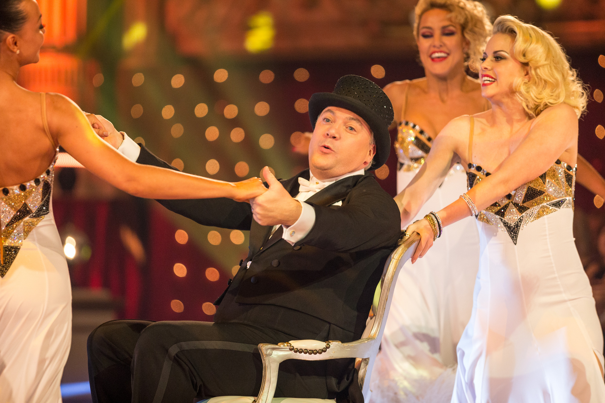 Ed Balls MP, Strictly Come Dancing Pro Dancers - (C) BBC - Photographer: Guy Levy