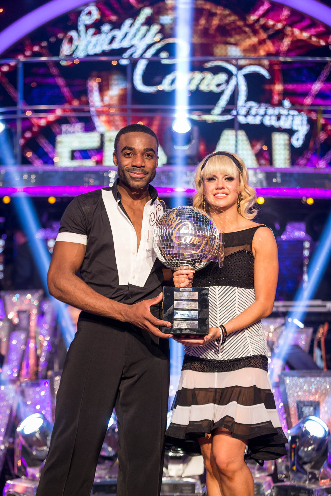 STRICTLY COME DANCING 2016 WINNERS** Joanne Clifton, Ore Oduba - (C) BBC - Photographer: Guy Levy