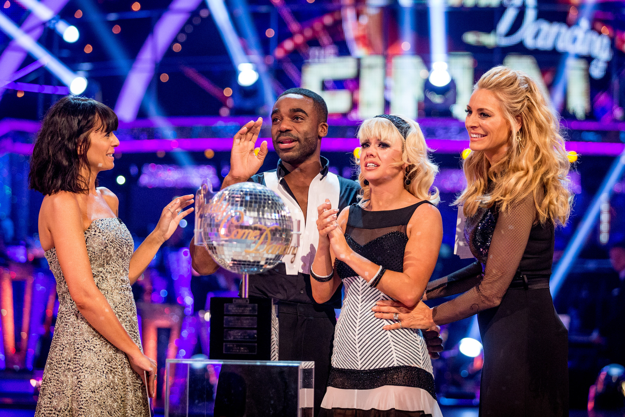 Claudia Winkleman, Ore Oduba, Joanne Clifton, Tess Daly - (C) BBC - Photographer: Guy Levy